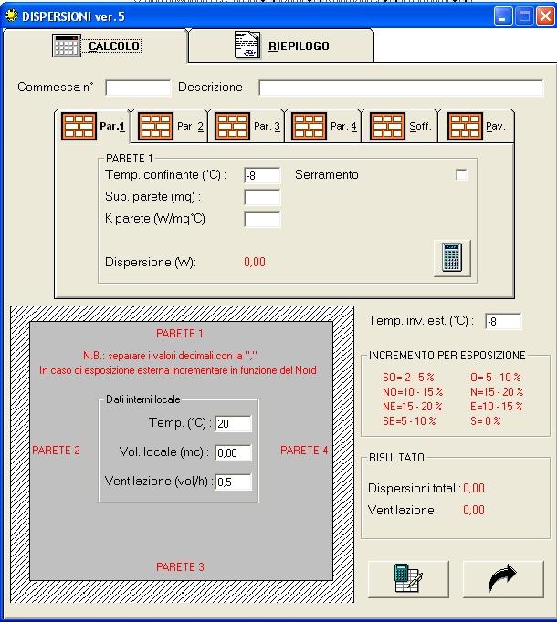 Calcolo dispersione termica edifici software queenerogon for Calcolo fabbisogno termico